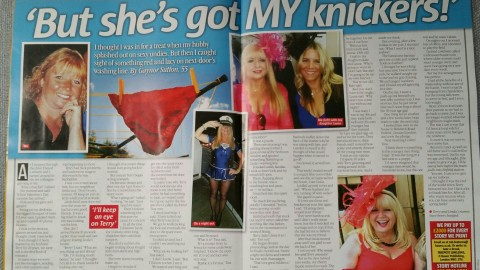 TAKE A BREAK MAGAZINE -UNDERHAND AND UNDERWEAR.!!!
